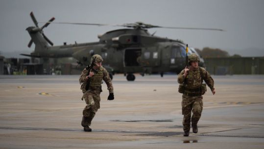 Commando Helicopter Force display for new pilots.