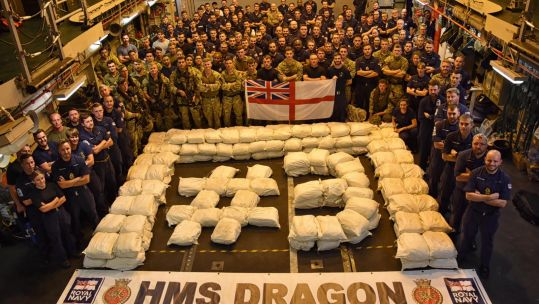 HMS Dragon Drug Seizure