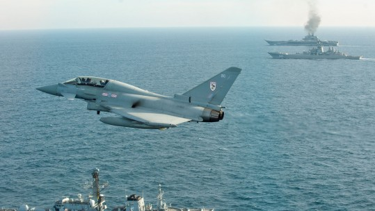 Royal Navy & RAF Russian Navy Escort