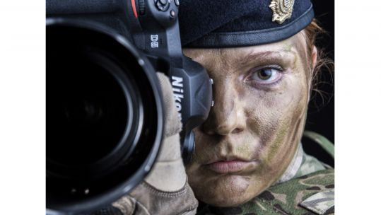Cover Image: Corporal Rebecca Brown became the first female soldier to win photographer of the year (Picture: British Army).