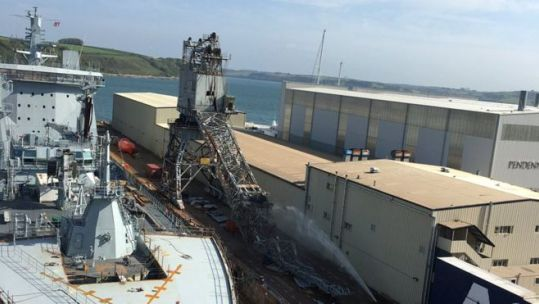 Falmouth dock crane collapse
