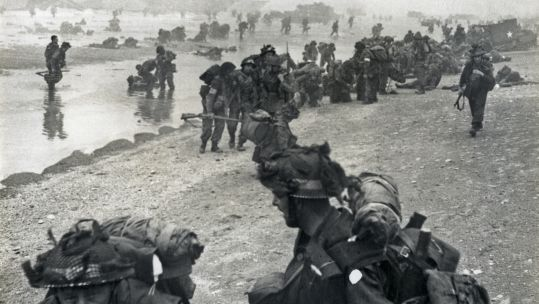 British troops landing in Normandy on D-Day