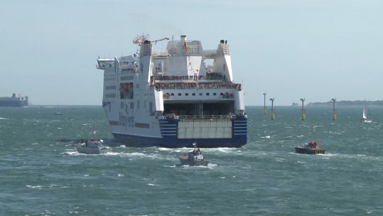D-Day veterans ferry leaves Portsmouth