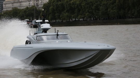 Unmanned Service Vessel (USV) Tested On Thames