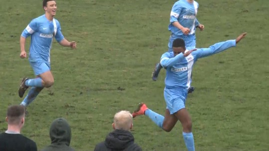 The RAF celebrate their winning goal