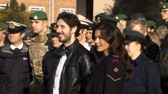Troops Meet Dad's Army Stars At Military Screening