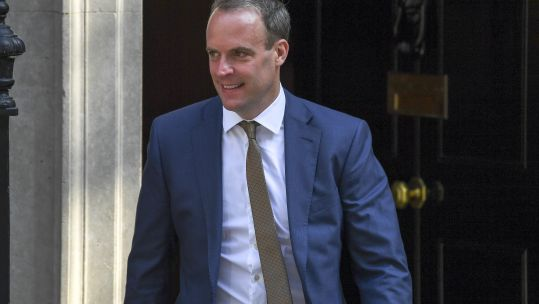 Dominic Raab previously served as Brexit Secretary under Theresa May (Picture: PA).