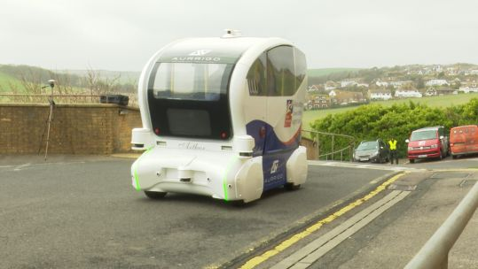 'Pod Zero' can carry up to four people, and travels at a maximum speed of 15 mph.