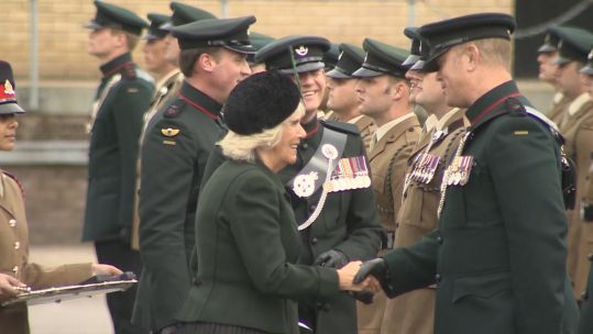 Duchess of Cornwall presents 4 RIFLES medals