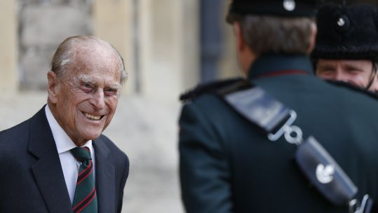 Cover image: Prince Philip during a 2020 ceremony where he handed over the role of Rifles colonel-in-chief to the Duchess of Cornwall (Picture: PA).
