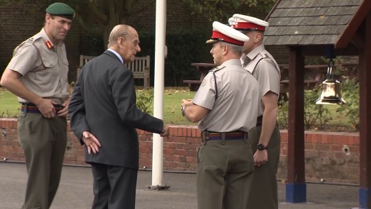 Duke of Edinburgh Visits Royal Marines School Of Music