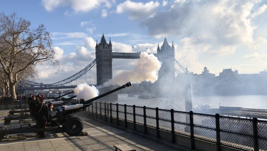 Tower of London gun salute