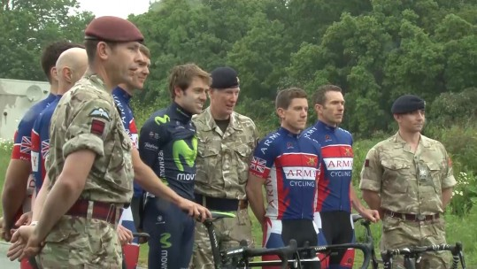 Cycling Champ Rubs Lycra With Army Team