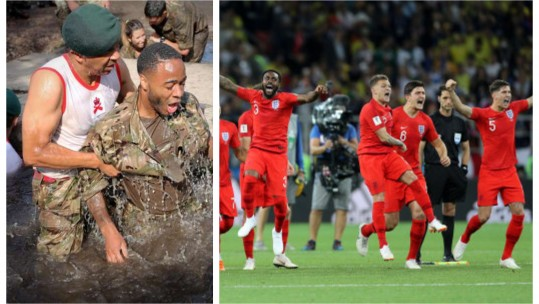 Gareth Southgate has praised the impact the Royal Marines have had on his side (Picture: Royal Marines/PA).