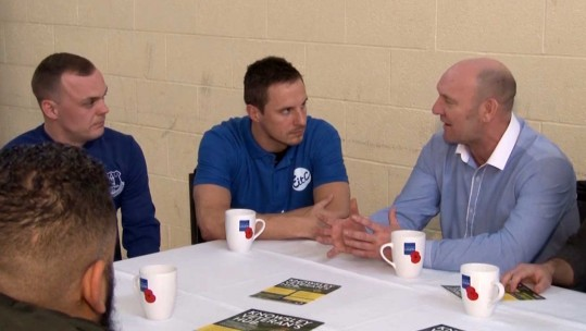 Everton FC Shows Support For Veterans