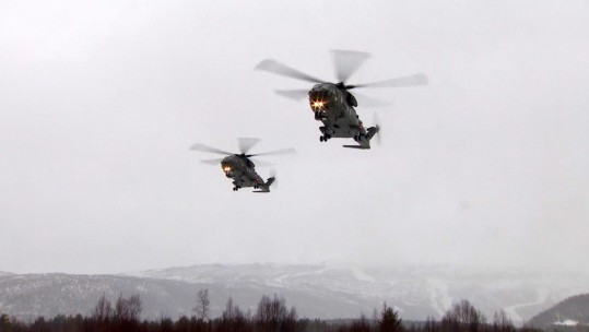 Merlin Helicopters On Exercise Clockwork