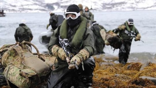 Marines on Exercise Cold Response in Norway