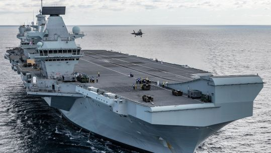 F-35 lands on HMS Queen Elizabeth (Picture: MOD).