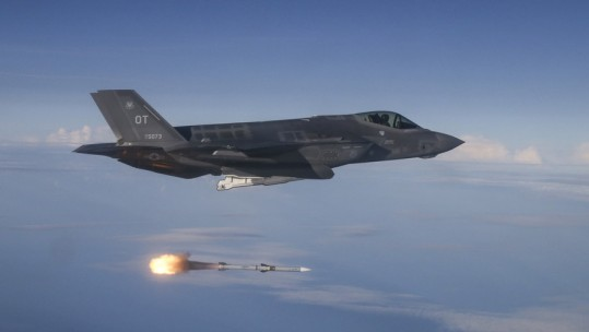 F-35 test launches AMRAAM missile