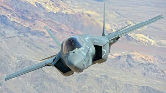 RAF F-35B Lightning ll aircraft, from Edwards Air Force Base in California, USA