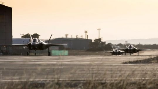 Cover image: Library image of RAF F-35Bs on the runway at RAF Akrotiri (Picture: MOD).