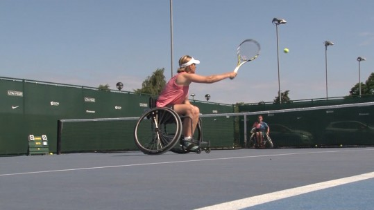 UK Wheelchair Tennis Invictus Games training