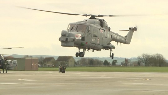 Royal Navy Lynx Returns Home For The Final Time