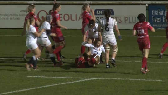 Disappointing Match For Army Women's Rugby Team