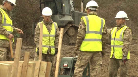 Gurkha Engineers Practice Trench Digging Before Kenya Deployment
