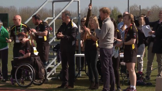 Prince Harry at Invictus Games trials