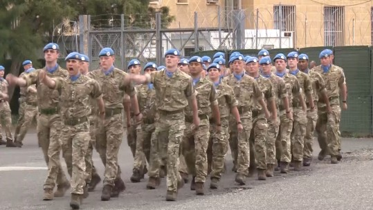 British troops on a UN peacekeeping mission in Cyprus.