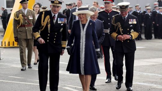 Camilla aboard HMS Prince of Wales