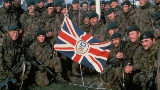 Royal Marines recapture Port Stanley in the Falkland Islands 1982