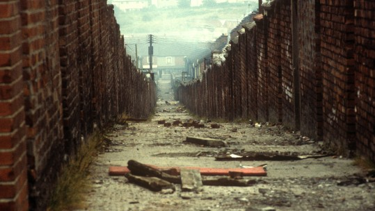 Falls Road in Belfast during the Troubles