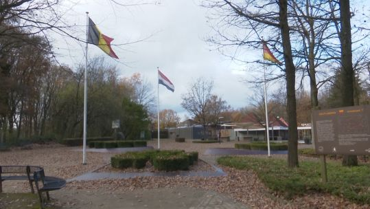 Flags of Belgium, The Netherlands, Germany.