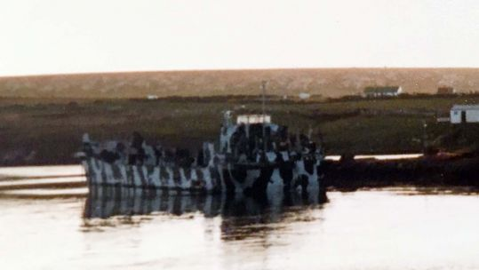 Foxtrot Four Flaklkands landing craft (Picture: Royal Navy).
