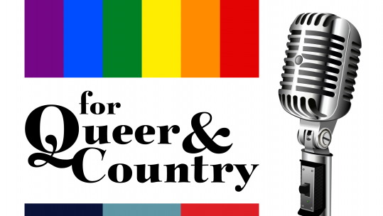 For Queer And Country logo Radio Microphone