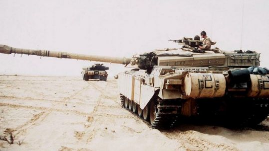 Gulf War Operation Desert Storm Challenger 1 main battle tanks CREDIT MOD