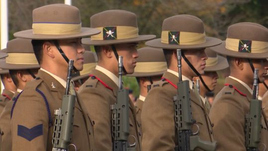 Gurkha recruits pass out at Catterick Garrison 151119 CREDIT BFBS