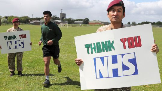 Gurkha soldiers push to run length of UK in hospital fundraiser (Picture: British Army).
