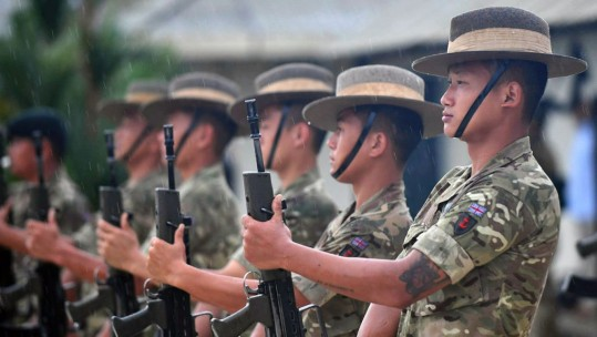 Guard of Honour 2nd Battalion Royal Gurkha Rifles