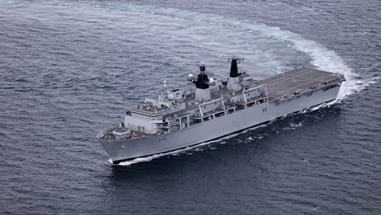 HMS Albion is leading the Joint Expeditionary Force as part of Baltic Protector (Picture: MOD).