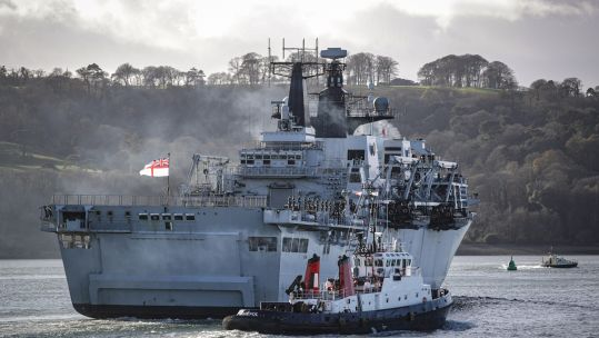 Cover image: HMS Albion sails into Devonport (Picture: Royal Navy).