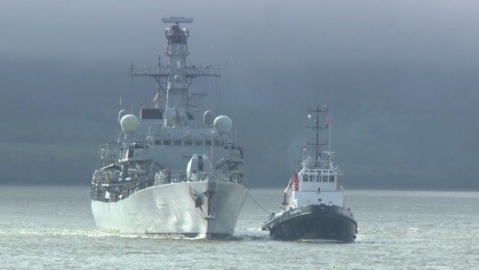 HMS Portland comes home after nine months at sea