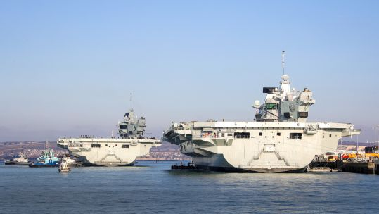 Cover image: The Royal Navy's two Queen Elizabeth-class aircraft carriers in Portsmouth (Picture: Royal Navy).