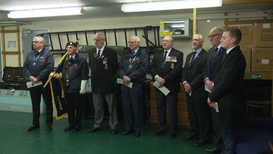 HMS Raleigh remembrance HMS Cossack sailors 170220 CREDIT BFBS.jpg
