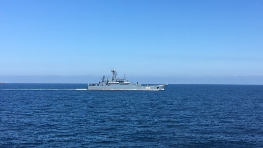 HMS Severn Russian Warship Escort