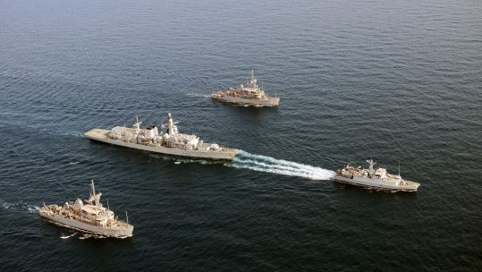 Cover image: The four ships spent two days on the exercise (Picture: Royal Navy).