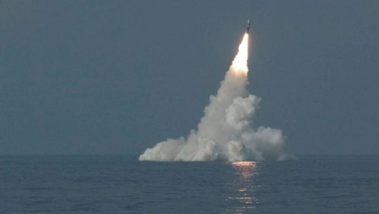 HMS Vanguard's DASO Trident missile being launched in 2005 (Picture: MOD).