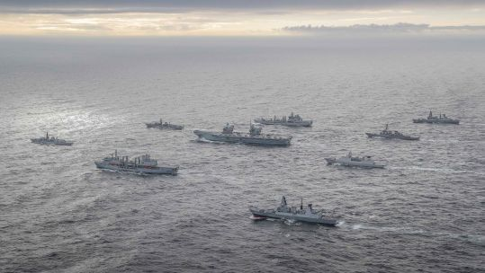 Cover image: UK Carrier Strike Group during Exercise Joint Warrior last year (Picture: Royal Navy).